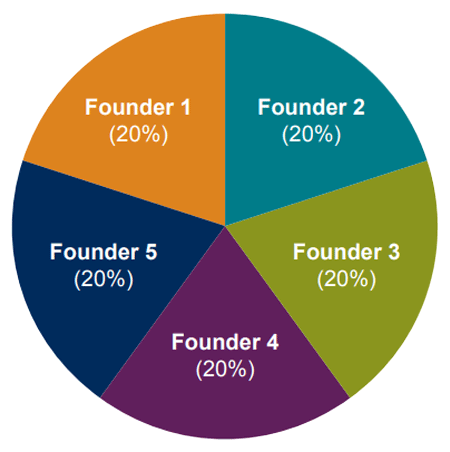 Founders' Ownership Chart