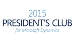 2015 President's Club for Microsoft Dynamics Award Armanino