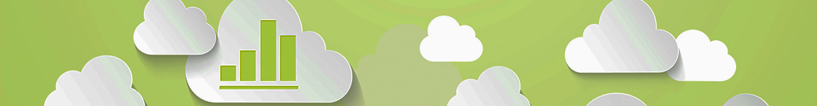 Business Clouds Narrow Banner