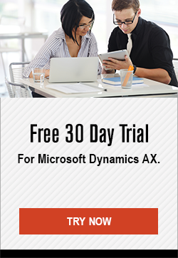 Free 30 Day Trial - For Microsoft Dynamics AX