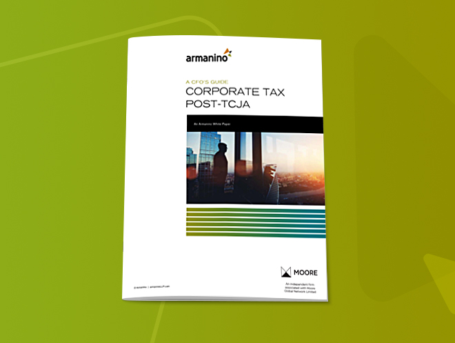 A CFO's Guide to Corporate Tax Post-TCJA
