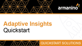 Armanino's Marketplace - Adaptive Insights Quickstart Badge