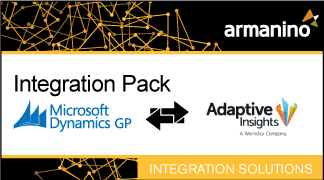 Armanino's Marketplace - Integration Pack for Microsoft Dynamics GP and Adaptive Insights Badge