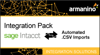Armanino's Marketplace - Integration Pack for Sage-Intacct  .CSV Imports Badge