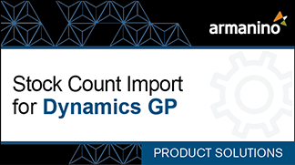 Armanino's Marketplace - Stock Count Import for Dynamics GP Badge