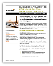 Business Intelligence For Your Sales and Marketing Leaders Cover
