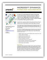 Microsoft Dynamics Forecast Management Solution Cover