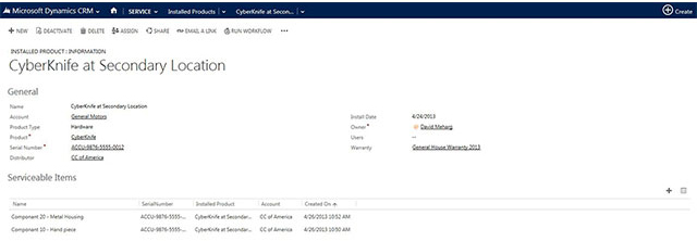 Microsoft Dynamics - Warranty Management and Product Repairs Serial Number Capture Example