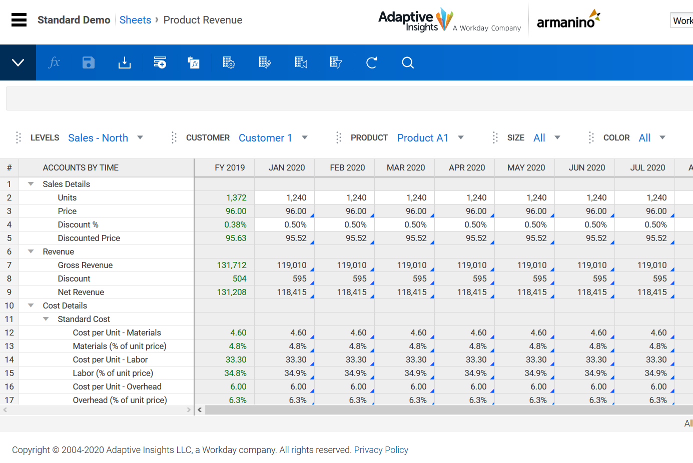 Workday Adaptive Planning Product Revenue